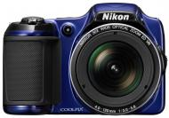 Цифровой фотоаппарат Nikon Coolpix L820 Blue (VNA332E1)