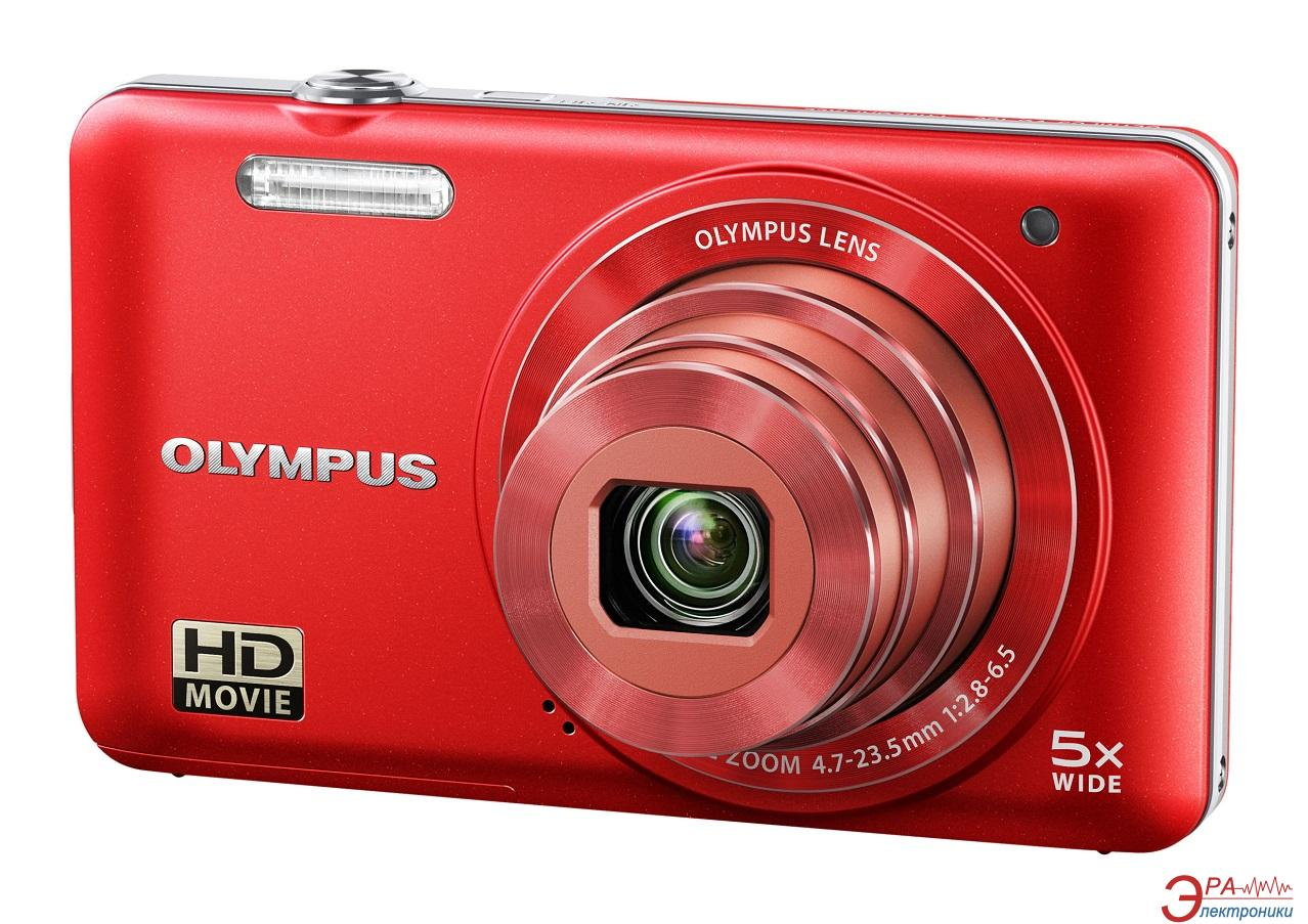 Цифровой фотоаппарат Olympus VG-160 Red + case + SDHC 8 Gb KIT