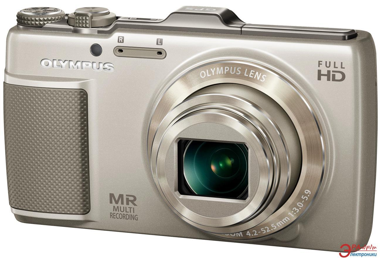 Цифровой фотоаппарат Olympus SH-25MR Gold + чехол + карта SDHC 16 Gb