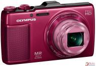 Цифровой фотоаппарат Olympus SH-25MR Red + чехол + карта SDHC 16 Gb