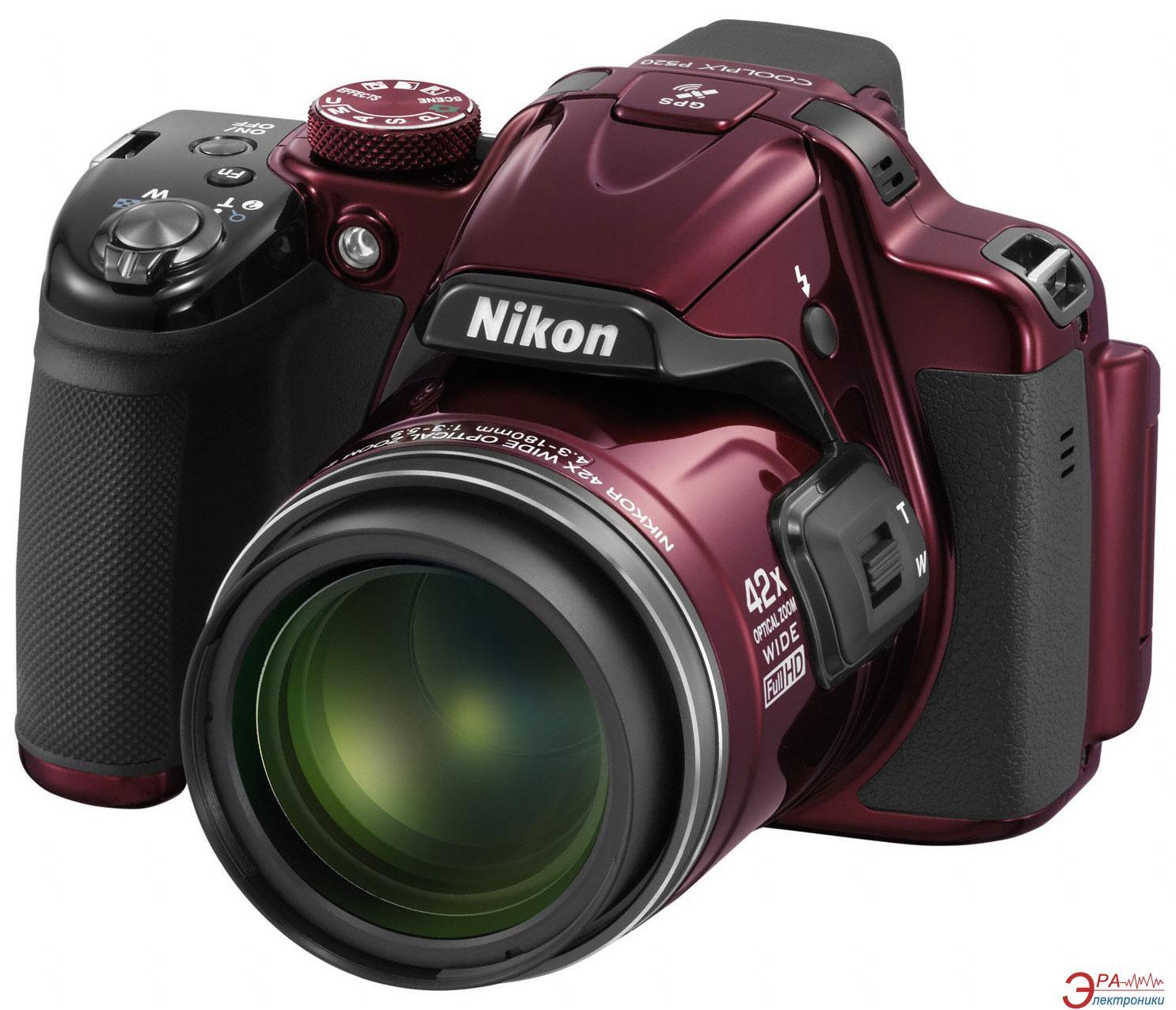 Цифровой фотоаппарат Nikon Coolpix P520 Red (VNA252E1)