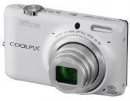 Цифровой фотоаппарат Nikon Coolpix S6500 White (VNA274E1)