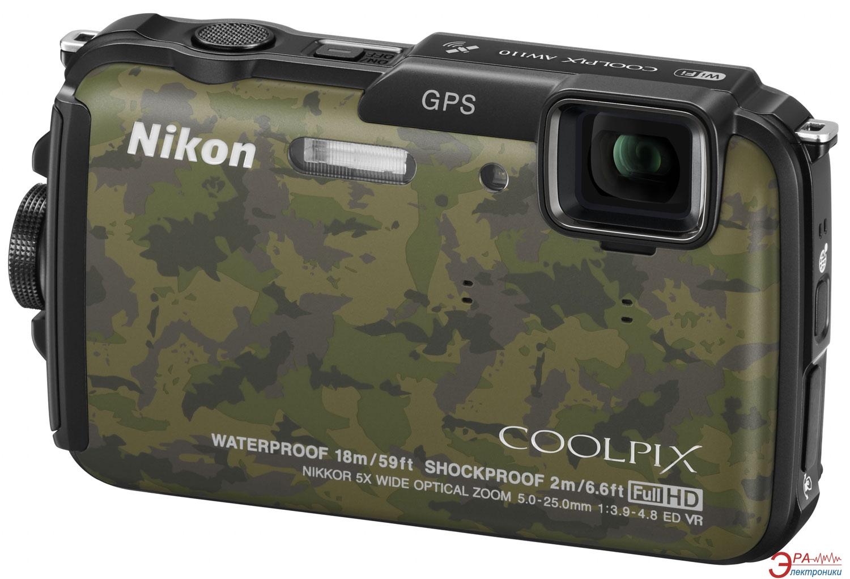 Цифровой фотоаппарат Nikon COOLPIX AW110 Camouflage (VNA314E1)