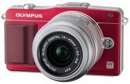 �������� ����������� Olympus E-PM2 14-42 mm kit Flash Air Red (V206021RE010)