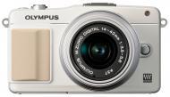 �������� ����������� Olympus E-PM2 14-42 mm kit Flash Air White (V206021WE010)