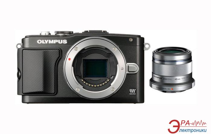 Цифровой фотоаппарат Olympus E-PL5 45 mm Flash Air Black\Silver (V205041SE040)