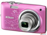 �������� ����������� Nikon Coolpix S2700  Lineart Pink (VNA306KV01) + �����