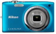 Цифровой фотоаппарат Nikon Coolpix S2700 Blue (VNA303KV01) + чехол