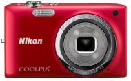 �������� ����������� Nikon Coolpix S2700 Red (VNA302KV01) + �����