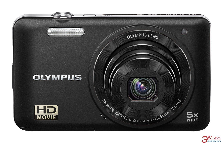 Цифровой фотоаппарат Olympus VG-160 Black + чехол + карта SDHC 4 Gb