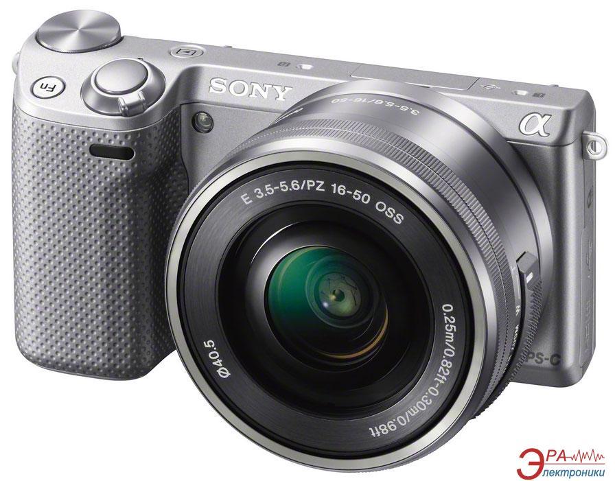 Цифровой фотоаппарат Sony NEX-5T + объектив 16-50 mm Silver (NEX5TLS.RU2)