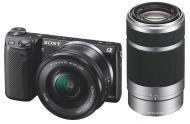 Цифровой фотоаппарат Sony NEX-5T + объектив 16-50 mm + 55-210 mm Black (NEX5TYB.RU2)