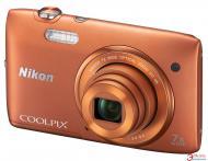 Цифровой фотоаппарат Nikon COOLPIX S3500 Orange (VNA294KV01) + чехол