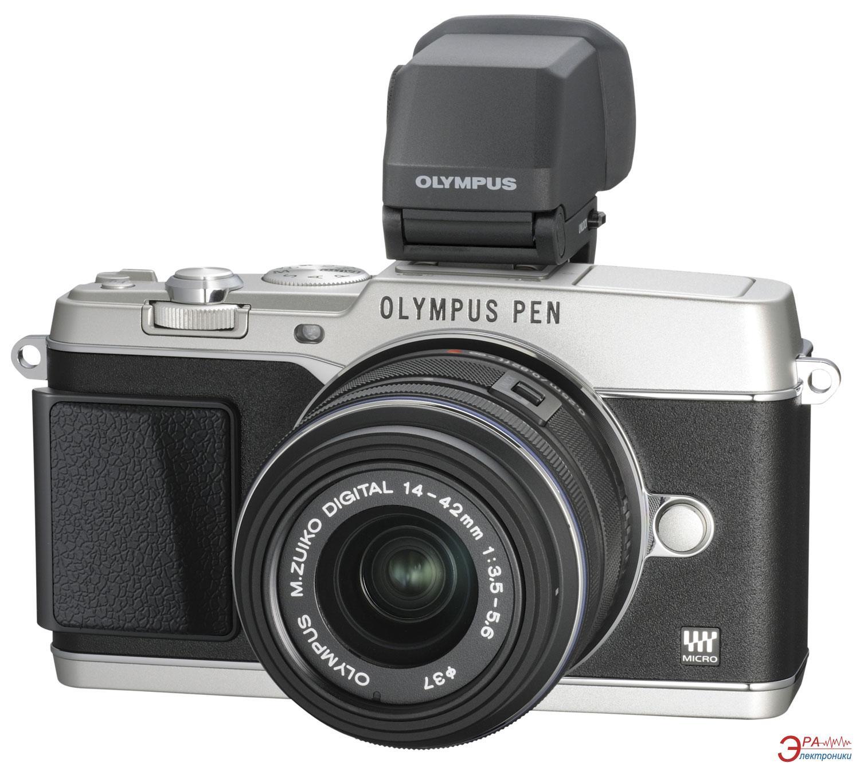 Цифровой фотоаппарат Olympus E-P5 14-42 mm Kit + VF4 Black\Silver (V204051SE020)