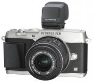 Цифровой фотоаппарат Olympus E-P5 14-42 mm Kit + VF4 Black\Silver (V204051SE020)