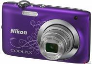 Цифровой фотоаппарат Nikon Coolpix S2700 Lineart Purple (VNA305KV01) + чехол