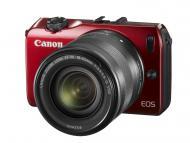 Цифровой фотоаппарат Canon EOS M + объектив 18-55 IS STM + вспышка Speedlite 90 EX Red (6612B035)