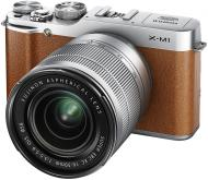 Цифровой фотоаппарат Fujifilm X-M1 + XC 16-50mm + XF 27mm Kit Brown (16402640)