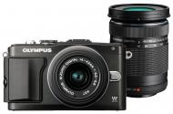 �������� ����������� Olympus E-PL5 DZK 14-42 mm + 40-150 mm Flash Air Black (V205042BE010)