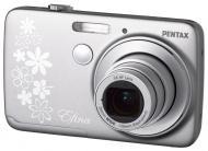 Цифровой фотоаппарат Pentax Efina Silver (12735) + Карта памяти Transcend 8Gb SD Class 4 в подарок!