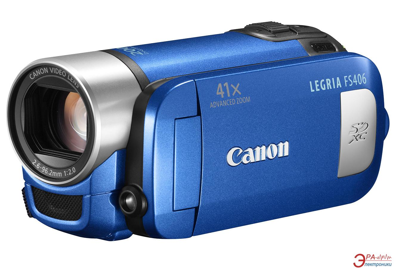 Цифровая видеокамера Canon Legria FS406 Blue (5026B037)