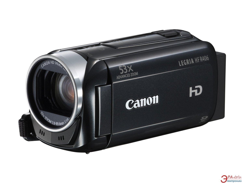 Цифровая видеокамера Canon Legria HF R406 (8155B027) + cумка + карта памяти SD 4GB