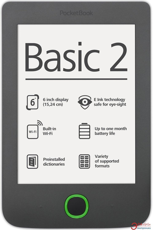 Электронная книга PocketBook 614 Basic 2 (PB614-Y-CIS) Grey