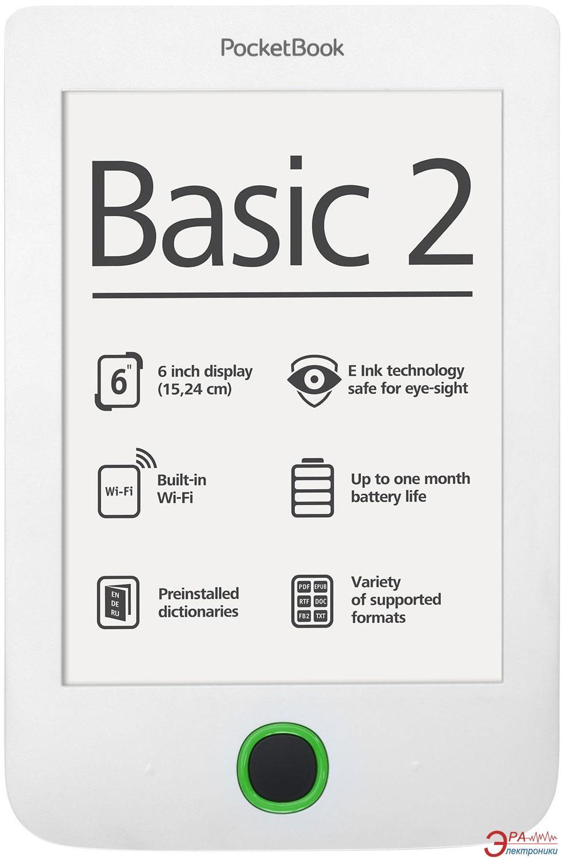 Электронная книга PocketBook 614 Basic 2 (PB614-D-CIS) White