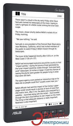Электронная книга ASUS Eee Reader DR900 Black