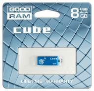 Флеш память USB 2.0 Goodram 8 Гб Cube Blue (PD8GH2GRCUBR9)