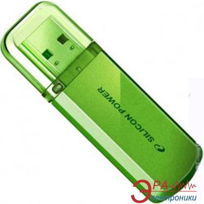 Флеш память USB 2.0 Silicon Power 4 Гб Helios 101 Green (SP004GBUF2101V1N)