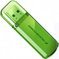Флеш память USB 2.0 Silicon Power 4 Гб Helios 101 Green (SP004GBUF2101V1N)