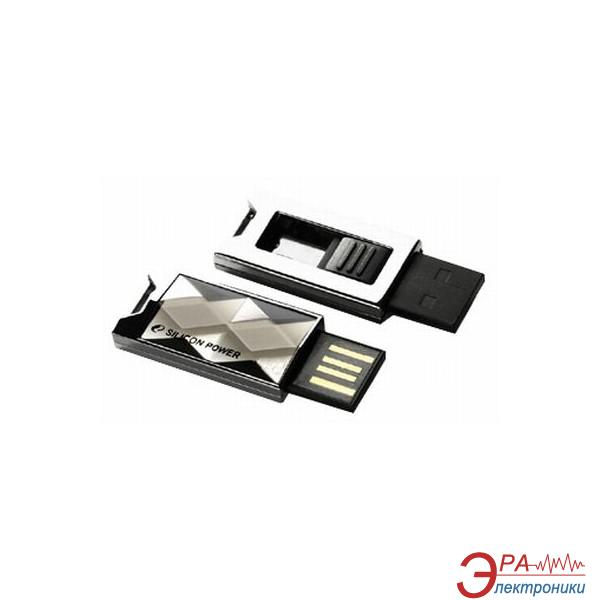 Флеш память USB 2.0 Silicon Power 8 Гб Touch 850 Titanium (SP008GBUF2850V1T)