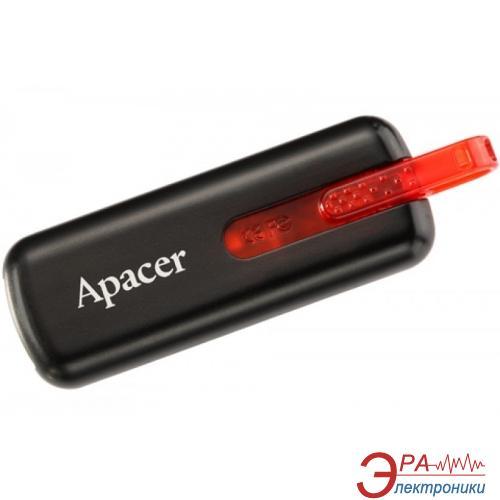 Флеш память USB 2.0 Apacer 8 Гб AH326 Black (AP8GAH326B-1)