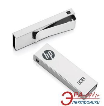 Флеш память USB 2.0 HP 8 Гб V210W ClipDrive Metal Silver (P-FD8GB-HPV210W-BX) (FDU8GBHPV210W-EF)