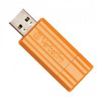 ���� ������ USB Verbatim 4 �� PinStripe T-BLIST VOLCANIC ORANGE