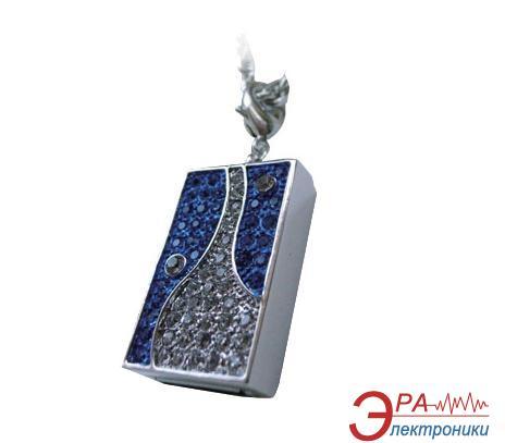 Флеш память USB 2.0 Pretec 16 Гб i-Disk Sparkling Blue Swarovski crystals (V3U16G-SB)