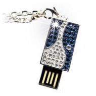 Флеш память USB 2.0 Pretec 8 Гб i-Disk Sparkling Blue Swarovski crystals (V3U08G-SB)