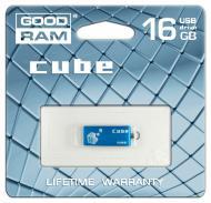 Флеш память USB 2.0 Goodram 16 Гб Cube BLUE (PD16GH2GRCUBR9)