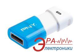 Флеш память USB 2.0 PNY 4 Гб Compact Attache Blue (FDU4GBA3CWB-EF)
