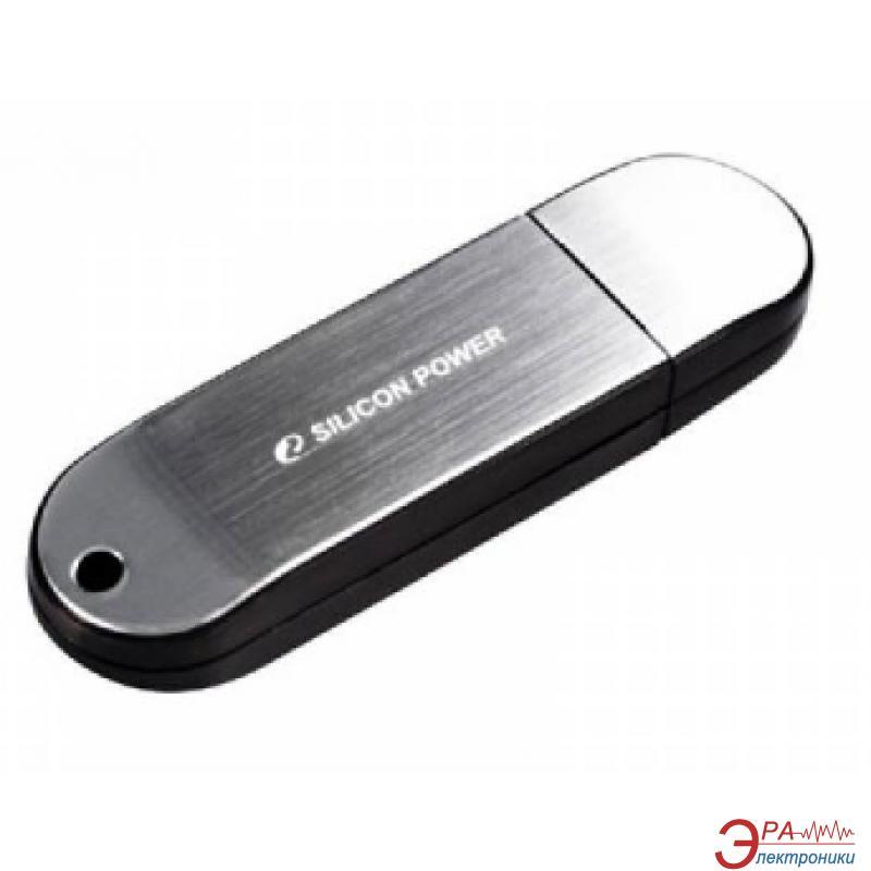 Флеш память USB 2.0 Silicon Power 32 Гб LuxMini 910 180X Silver (SP032GBUF2910V1S)