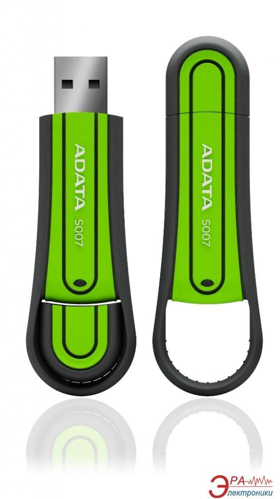 Флеш память USB 2.0 A-Data 8 Гб S007 Green (S007-8G-RGN)