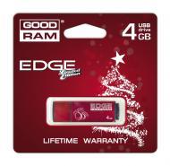 Флеш память USB 2.0 Goodram 4 Гб EDGE Christmas RED (PD4GH2GREGRR9+XM)