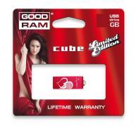 Флеш память USB 2.0 Goodram 8 Гб Cube Valentine Red (PD8GH2GRCURR9+V)