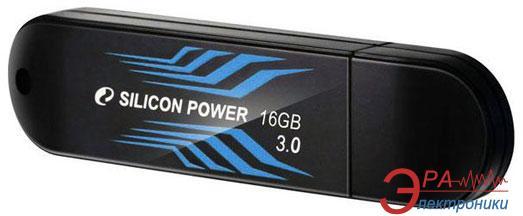 Флеш память USB 3.0 Silicon Power 16 Гб Blaze B10 Black (SP016GBUF3B10V1B)
