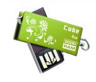 Флеш память USB 2.0 Goodram 4 Гб Cube Spring Edition Green (PD4GH2GRCUGR9+S)