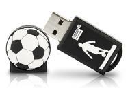 Флеш память USB 2.0 Goodram 8 Гб SPORT Football Black (PD8GH2GRFBR9+U)