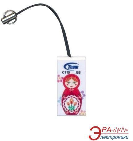 Флеш память USB 2.0 Team 8 Гб C115 (Матрешки)