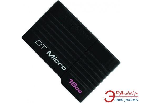 Флеш память USB 2.0 Kingston 16 Гб Data Traveler Micro Black (DTMCK/16GB)