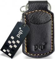 Флеш память USB 2.0 PQI 4 Гб I-stick i820 Leather KeyChain Black (6820-004GR1012/6820-004GR1017)